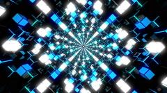 VJ Loop Blue Tunnel - stock footage