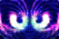 Stock Illustration of Abstract symmetric blue lights