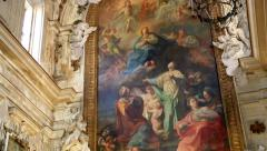 Church of Santa Ninfa dei Crociferi Stock Footage