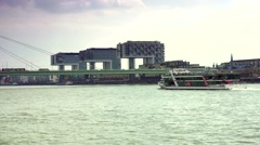 """ULTRA HD 4K real time shot,The three """"Crane Houses"""",Kranhäuser,COLOGNE Stock Footage"""