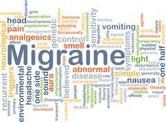 Migraine background concept - stock illustration
