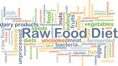 Stock Illustration of Raw food diet background concept