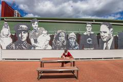 Queenstown Mosaic Sculpture Stock Photos