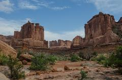 Park Avenue Hike in Arches Stock Photos