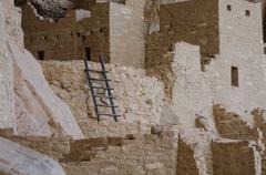 Mesa Verde Ladder Close Up Stock Photos