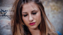 very sad and frustrated teenager portrait - stock footage