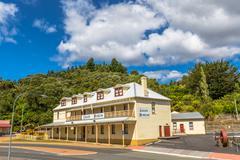 Queenstown Tasmania Museum Stock Photos