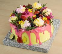 Cake woth meringue Stock Photos