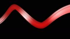 Shiny red ribbon Stock Footage