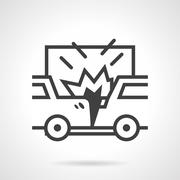 Car crash vector icon Piirros