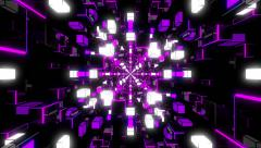 Stock Video Footage of VJ Loop Violet Rotating Tunnel