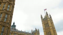 Palace of Wstminster Victoria Tower Stock Footage