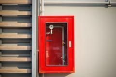 Sprinkler red control box on wall Kuvituskuvat