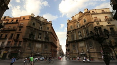 Four Corners, Piazza Vigliana Stock Footage