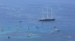 Aerial Mondello Bay Stock Footage