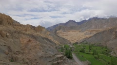 TIMELAPSE Moonland landscape,valley and clouds,Lamayuru,Ladakh,India Stock Footage