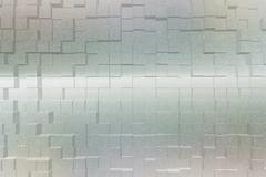Frosted glass effect 3d block style - stock illustration