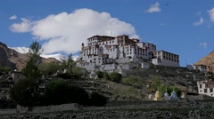 TIMELAPSE Gompa and clouds,Likir,Ladakh,India Stock Footage