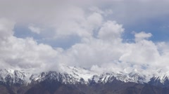 TIMELAPSE Mountains and clouds,Likir,Ladakh,India Stock Footage