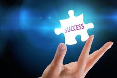 Stock Illustration of Success  against blue background with vignette