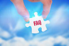 Stock Illustration of Faq against blue sky