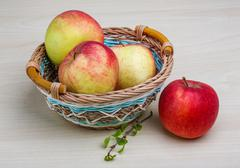 Few apples - stock photo