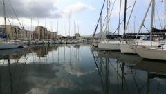 Palermo Old Harbor Stock Footage