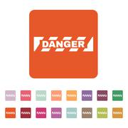 The danger icon. Caution and hazard, attention symbol. Flat Stock Illustration