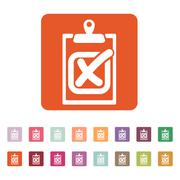 The checklist icon. Clipboard and failed task, wrong answer symbol. Flat - stock illustration