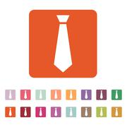 The tie icon. Necktie and fashion, dress code symbol. Flat Stock Illustration