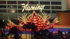 Las Vegas Strip Hotels & Casinos (Night - Editorial) 4K Stock Footage