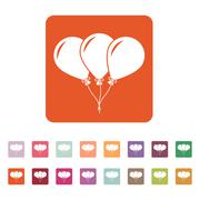 The balloons icon. Fun and celebration, birthday symbol. Flat - stock illustration