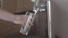 Beer Pouring into Glass from Tap Stock Footage