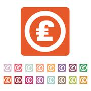 The pound sterling icon. Cash and money, wealth, payment symbol. Flat - stock illustration
