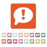 The exclamation mark icon. Attention speech bubble Stock Illustration