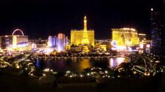 Las Vegas Strip Hotels & Casinos (Night - Editorial) Time-Lapse 4K Stock Footage