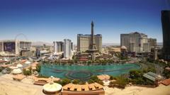 Las Vegas Strip Hotels & Casinos (Day - Editorial) 4K Stock Footage