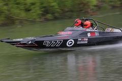 jetboat river racing - stock photo