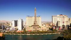 Las Vegas Strip Hotels & Casinos (Night - Editorial) Stock Footage