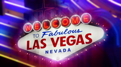 Stock Video Footage of Welcome to Fabulous Las Vegas Nevada Sign (Loopable) 4K