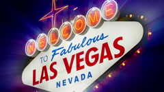Welcome to Fabulous Las Vegas Nevada Sign (Loopable) 4K - stock footage