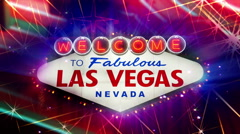 Welcome to Fabulous Las Vegas Nevada Sign (Loopable) 4K Stock Footage
