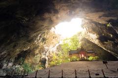 Royal pavilion in the Phraya Nakhon Cave, Prachuap Khiri Khan, Thailand Stock Photos