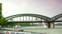 ULTRA HD 4K real time shot,Hohenzollern Bridge Cologne Stock Footage
