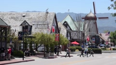 Solvang Windmill Stock Footage