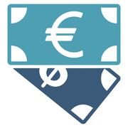 Banknotes icon from Business Bicolor Set - stock illustration