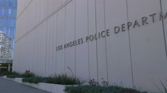 LA Police Department Sign Stock Footage