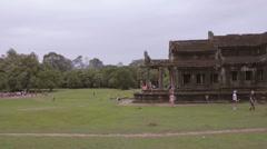 Beautiful temple viewpoint at Angkor Wat Stock Footage