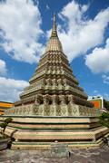 Authentic Thai Architecture in Wat Pho, Bangkok - stock photo