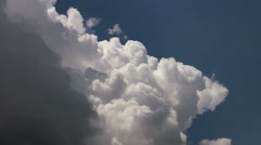Cumulus transform to clouds fog - stock footage